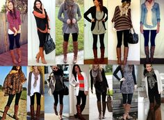 Black leggins + Brown Boots pretty much what I want to wear every day!