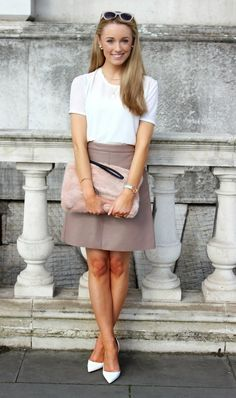 Material Girl  Pink Fluffy Bag  Leather Skirt  Fashion Photography - Streetstyle OOTD