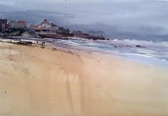 playa de Comillas by Manolo  Jimenez - playa de Comillas Painting - playa de Comillas Fine Art Prints and Posters for Sale