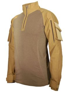 Applied Orange FR-UBAX TenCate Defender Combat Shirt in Coyote; also comes in multicam, etc.