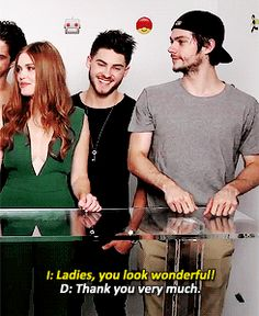 #TeenWolf cast - Dylan O´Brien is funny :)  gif