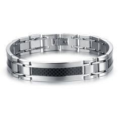 Fashion Men\u0027s Bangle Bracelet Black Label 316L Stainless Steel Titanium  Punk Rock Trendy Bracelet Homme Marque
