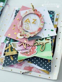 Insta Love~ The Good Life Portfolio~ a mini album by @sarahbargo for @heidiswapp using the gorgeous new Wanderlust Collection! #heidiswapp #hswanderlust #scrapbooking #minialbum