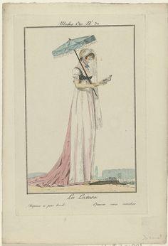 Modes et Manières du Jour 1799-1800, no. 32:  La Lecture..., anoniem, Philibert-Louis Debucourt, Philibert-Louis Debucourt, 1893 - 1903