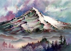 watercolor mountains | Recent Photos The Commons Getty Collection Galleries World Map App ...