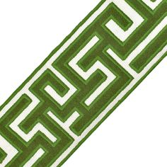 "Samuel and Sons Passementerie 2.75"" GREEK FRET EMBROIDERED BORDER"