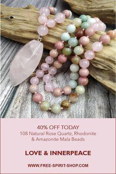 Crystal Jewelry, Beaded Jewelry, Beaded Necklace, Boho Jewellery, Trendy Jewelry, Prayer Bead Necklaces, Gemstone Bracelets, Making Ideas, Rose Quartz
