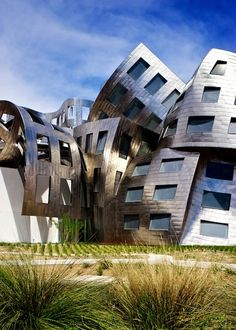 Cleveland Clinic Lou Ruvo Center for Brain Health in Las Vegas - Frank Gehry. Check out more images of this building - some other facades are even more engaging. Makes me happy to see such creative boldness and a clients acceptance of, and investment in, that creative boldness.