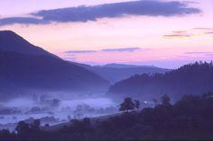 La vallée de Sainte Marie aux Mines en Alsace, la magie du crépuscule
