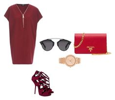 """""""Untitled #169"""" by aandreead ❤ liked on Polyvore featuring AX Paris, Giuseppe Zanotti, Prada, Michael Kors and Christian Dior"""