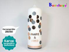 Hochzeitskerze+Traukerze+#132+Punkte+Kupfer+von+Bastelsepp+-+Kerzen+für+jeden+Anlass+fertig+kaufen+oder+mit+unseren+Bastelsets+selber+machen+auf+DaWanda.com