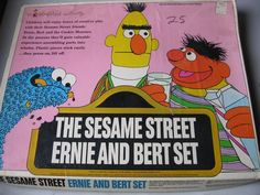 WOW! VINTAGE 1971 THE SESAME STREET BERT AND ERNIE SET COLORFORMS #Colorforms