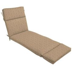Patio Cushion Ideas - Hampton Bay Bellagio Outdoor Chaise Lounge Cushion - The Home Depot