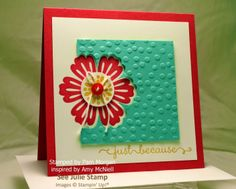 See Julie Stamp - Julie Wadlinger, Stampin' Up! Demonstrator : Swap: Cards in the Mail - by Pam Morgan - Mixed Bunch