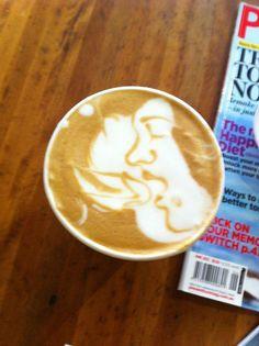 Girls love coffee paintings