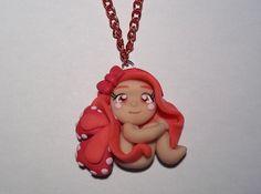 COLLANA CON FATINA, by Fimoloop, 10,00 euro; su misshobby.com