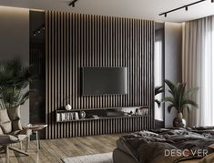Home Decorations Collections Blinds Feature Wall Living Room, Dark Living Rooms, Modern Tv Room, Modern Bedroom Design, Apartment Interior Design, Interior Design Living Room, Interior Design Courses Online, Living Room Tv Unit Designs, Appartement Design