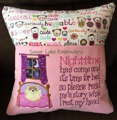 Perfect gift to encourage reading is this adorable Reading Pocket Pillow. They make the ideal gift for birthdays, holidays or anytime you need that special gift. The Reading Pillows are the perfect addition for any nursery or childs bed as well as great gifts for birthdays, holidays or going to
