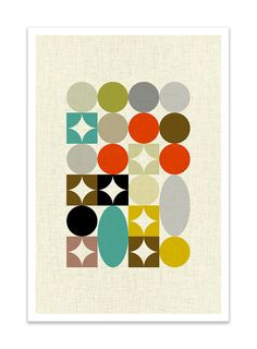 PALETTE no.4 Giclee Print Mid Century Modern Danish by Thedor