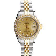 Rolex DateJust Diamond Ladies Watch,   #rubyredtagsale #rubylane