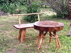 See livegreenstyle.com for details. Homemade Garden Furniture From Twigs     www.mikiesinfomall.com