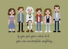Back to the Future cross-stitch pattern