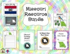 This is a set of 7 Missouri themed teaching resources that include puzzles, an acrostic poem, a travel journal, a state themed journal set, a reading packet and a research book.  For more descriptions please see individual listings by typing AJ Bergs and the state in the search engine.Designs Font: TeachtoTell https://www.teacherspayteachers.com/Store/Teachtotell