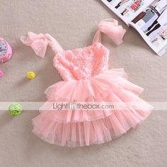 Girl's White Rose Flower Tutu Party Wedding Pageant Lovely Princess Dresses 2015 – $15.99
