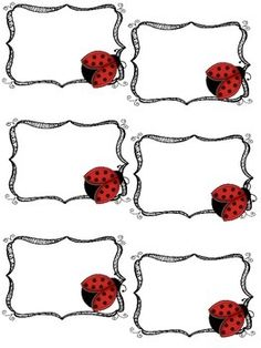 Free Tags / Labels Ladybug themed