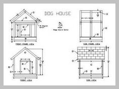 24 Free Dog House Plans: Peaked-Roof, A-Frames, Dog Shelters, Kennels and More! Small Dog House, Build A Dog House, Dog House Plans, Wooden Dog House, Raining Cats And Dogs, Backyard Projects, Wood Projects, Dog Care Tips, Shelter Dogs