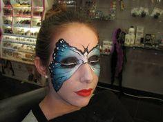 El maletín de Natacha: Maquillaje mariposa paso a paso!