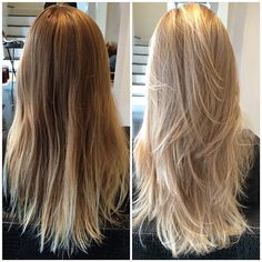 This lovely #TransformationTuesday is on Anna D. ✨✨ a lovely full head of highlights to create a beautiful popping blonde! #lovemyjob making people beautiful one head at a time #901girl