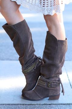 I'm A Lone Rider Suede Leather Bling Boots (Taupe),  (http://www.nanamacs.com/im-a-lone-rider-suede-leather-bling-boots-taupe/)