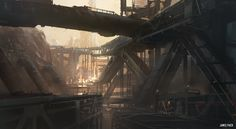 Environment - Color Thumbnail Class Demo, James Paick on ArtStation at https://www.artstation.com/artwork/environment-color-thumbnail-class-demo