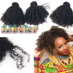 1b # color afro curly hair weft  ★.machine double wefted-very firm and strong weft stitched method tangle and shedding free MSN:LXL58LinLyn@outlook.com