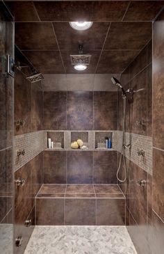 gorgeous shower. #bath #bathroom #shower #home