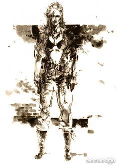 """Eva"" concept art from Metal Gear Solid 3: Snake Eater | Yoji Shinkawa"