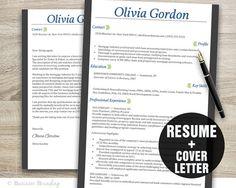 resume template design instant download by businessbranding - Cover Resume Letter