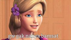 Memes Funny Faces, Funny Kpop Memes, Cute Memes, Stupid Memes, Pink Wallpaper Barbie, Barbie Jokes, Princess Academy, Princess Barbie, Barbie Images