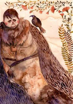Samwell Tarly and gillyflower by haniutek.deviantart.com