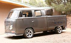 Transporter on fuchs Volkswagen Bus, Vw Camper, Vw Doka, Combi T2, Vw Pickup, Kombi Home, Cool Vans, Cool Stuff, Retro