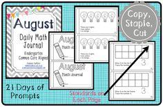 Primary Possibilities: Monthly Math Journals Freebie!