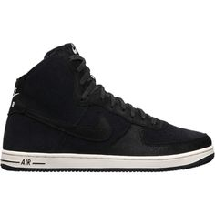 Nike Air Force 1 Light Hi Deconstructed Women's Shoes - Black, 5.5 ($100) ❤ liked on Polyvore