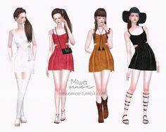 Miwamoe: Leather Dress • Sims 4 Downloads