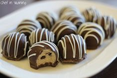 Cookie Dough Truffles! If you love cookie dough, you are going to LOVE these!...Don't worry, they are egg free!