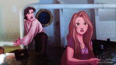 Rapunzel [as Rose Bukater] & Flynn [as Jack Dawson] (As Movie Stars by IsaiahStephens @deviantART) #Tangled #Titanic