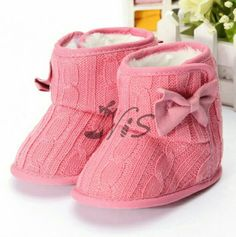 Bubbly pink boots for your bub this winter