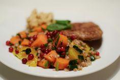 Matvetesallad med lingon