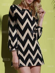 Fashionable Color Block Zigzag Printed Dress For Women Formal Dresses Online, Casual Dresses For Women, Chevron Dress, Colorblock Dress, Sammy Dress, Plus Size Swimwear, Cheap Dresses, Mini Dresses, Cheap Clothes