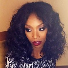 A wavy lob looks good on everyone, including Brandy